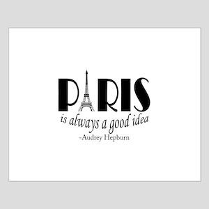 Audrey Hepburn Paris Quote Black Posters
