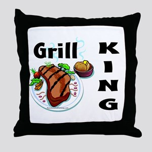 Grill King Throw Pillow