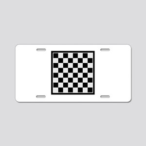 Checkers board Aluminum License Plate