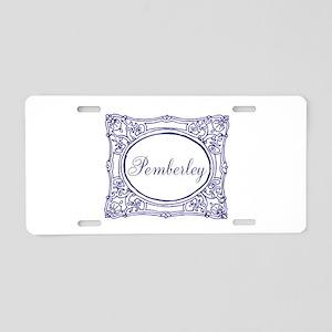Pemberley Aluminum License Plate
