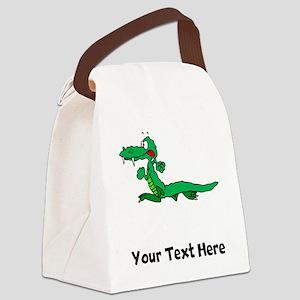 Cartoon Alligator (Custom) Canvas Lunch Bag
