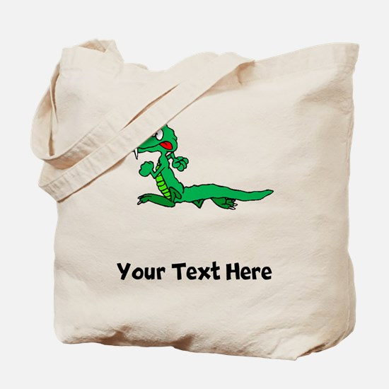 Cartoon Alligator (Custom) Tote Bag