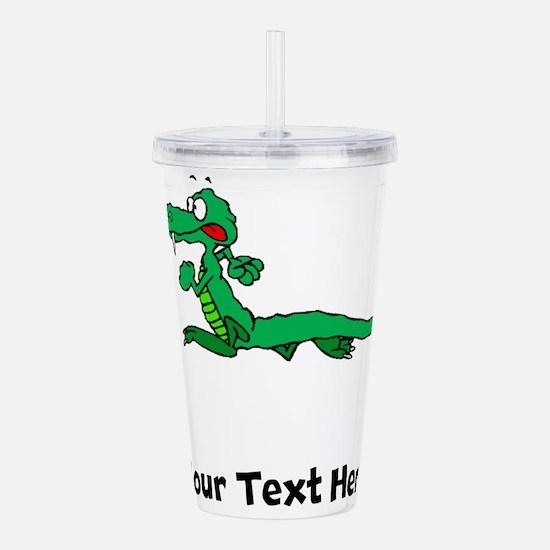 Cartoon Alligator (Custom) Acrylic Double-wall Tum