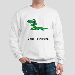 Cartoon Alligator (Custom) Sweatshirt