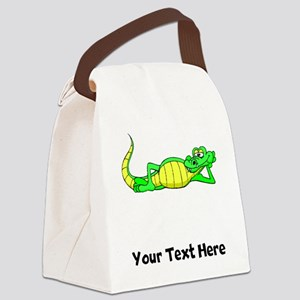 Alligator Posing (Custom) Canvas Lunch Bag