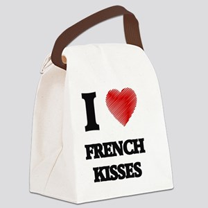 I love French Kisses Canvas Lunch Bag