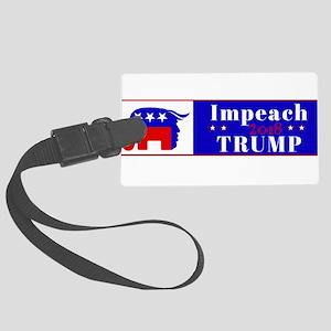 Impeach Trump 2018 Large Luggage Tag
