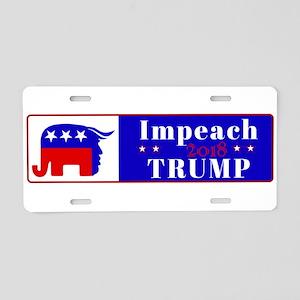 Impeach Trump 2018 Aluminum License Plate