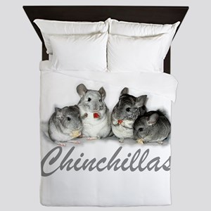 Chinchillas Queen Duvet