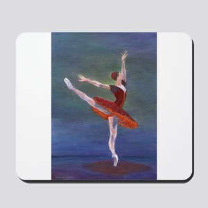Red Ballelrina Mousepad