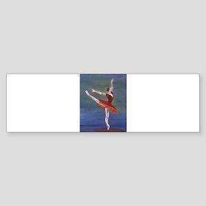 Red Ballelrina Bumper Sticker