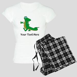 Cartoon Alligator (Custom) Pajamas