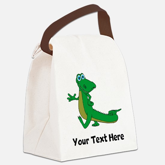 Cartoon Alligator (Custom) Canvas Lunch Bag