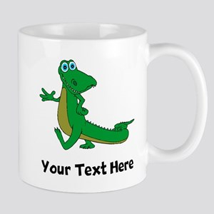 Cartoon Alligator (Custom) Mugs