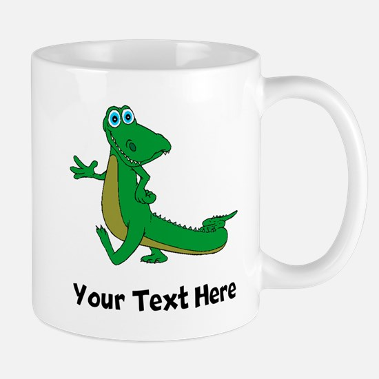 Cartoon Alligator (Custom) Mugs