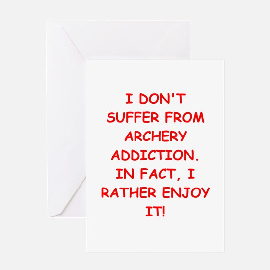 archery joke Greeting Cards