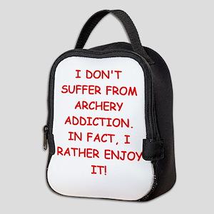 archery joke Neoprene Lunch Bag