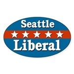 Seattle Liberal Oval Sticker