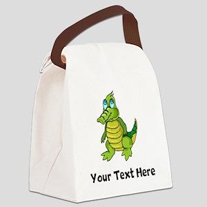 Baby Alligator (Custom) Canvas Lunch Bag