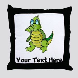 Baby Alligator (Custom) Throw Pillow