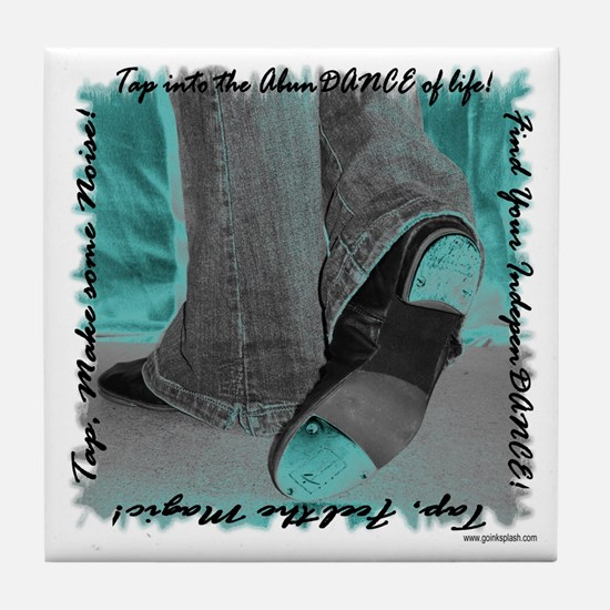 Neon Tap Feet Tile Coaster
