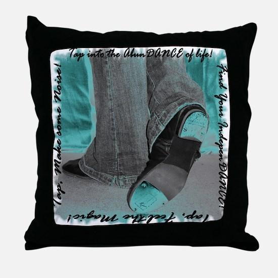 Neon Tap Feet Throw Pillow
