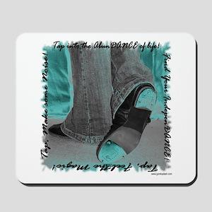 Neon Tap Feet Mousepad