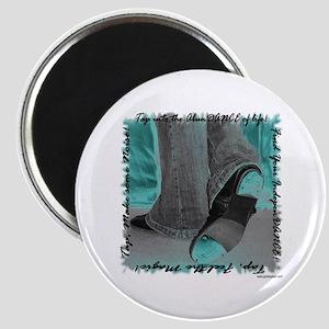 Neon Tap Feet Magnet