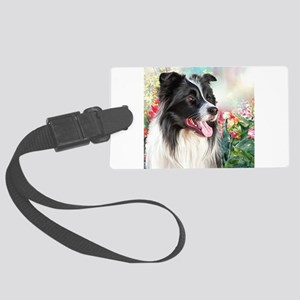 Border Collie Painting Luggage Tag