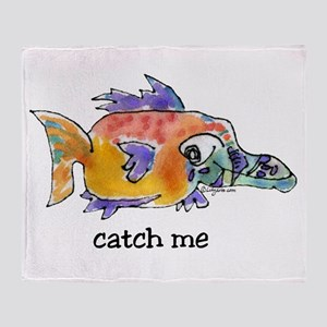 Catch Me Butterflyfish Throw Blanket