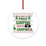 Tasse Camping RV Round Ornament