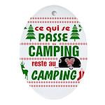 Tasse Camping RV Oval Ornament