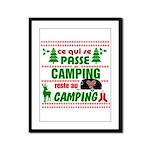 Tasse Camping RV Framed Panel Print