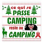 Tasse Camping RV Square Car Magnet 3