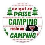 Tasse Camping RV Round Car Magnet