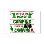 Tasse Camping RV Rectangle Car Magnet