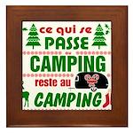 Tasse Camping RV Framed Tile