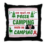 Tasse Camping RV Throw Pillow