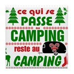 Tasse Camping RV Tile Coaster
