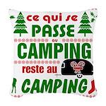 Tasse Camping RV Woven Throw Pillow