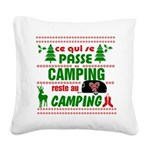 Tasse Camping RV Square Canvas Pillow