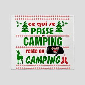 Tasse Camping RV Throw Blanket