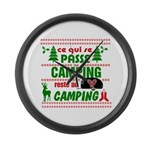 Tasse Camping RV Large Wall Clock