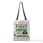 Tasse Camping RV Polyester Tote Bag