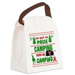 Tasse Camping RV Canvas Lunch Bag