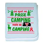 Tasse Camping RV baby blanket