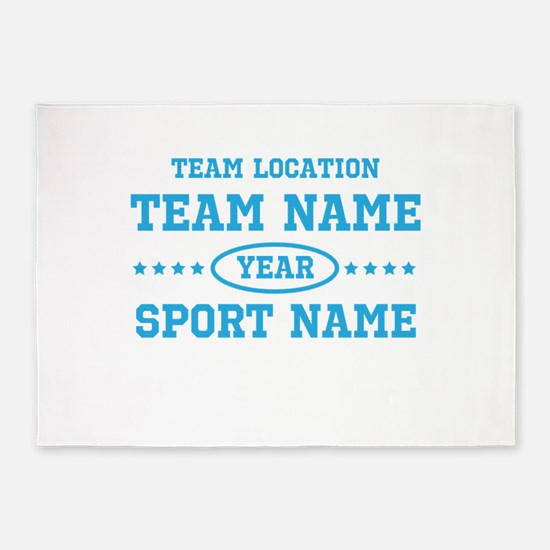 Sports Team Personalized 5'x7'Area Rug