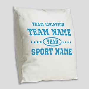 Sports Team Personalized Burlap Throw Pillow