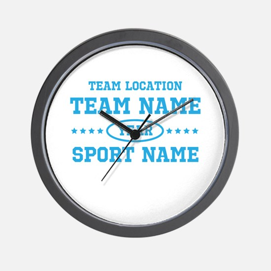 Sports Team Personalized Wall Clock