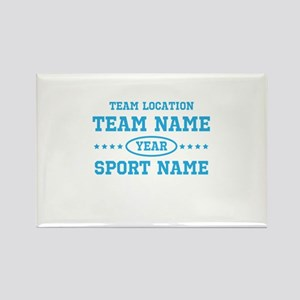 Sports Team Personalized Rectangle Magnet